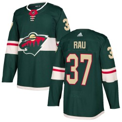 Kyle Rau Minnesota Wild Youth Adidas Authentic Green Home Jersey