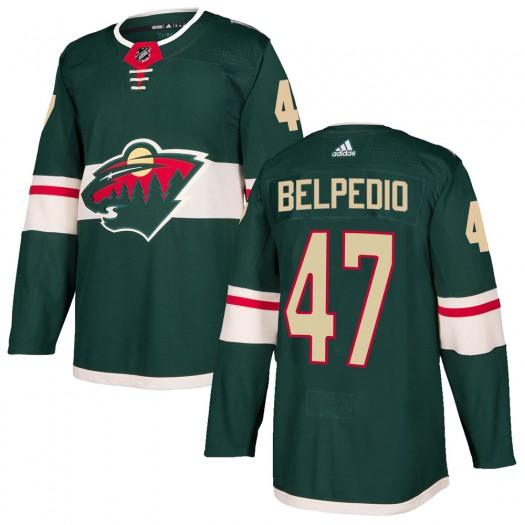 Louis Belpedio Minnesota Wild Men's Adidas Authentic Green Home Jersey