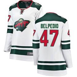 Louis Belpedio Minnesota Wild Women's Fanatics Branded White Breakaway Away Jersey