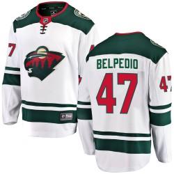 Louis Belpedio Minnesota Wild Youth Fanatics Branded White Breakaway Away Jersey