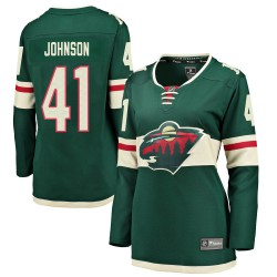 Luke Johnson Minnesota Wild Women's Fanatics Branded Green ized Breakaway Home Jersey