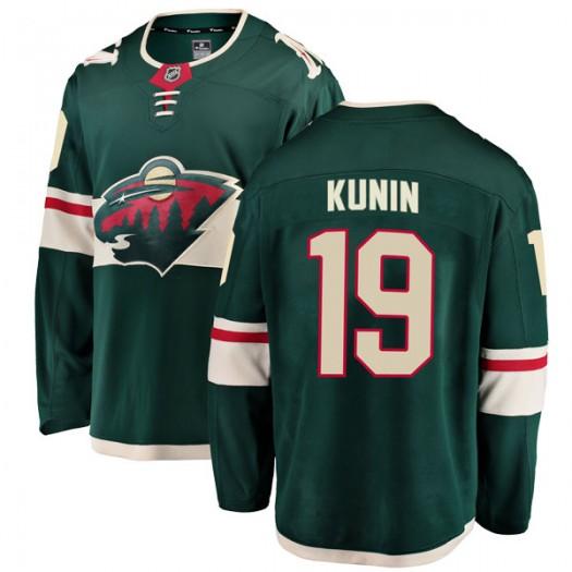 Luke Kunin Minnesota Wild Men's Fanatics Branded Green Breakaway Home Jersey