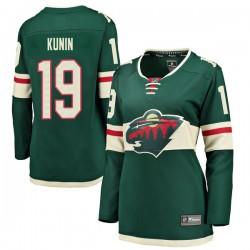 Luke Kunin Minnesota Wild Women's Fanatics Branded Green Breakaway Home Jersey
