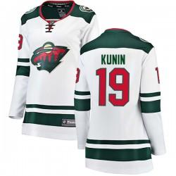 Luke Kunin Minnesota Wild Women's Fanatics Branded White Breakaway Away Jersey