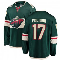Marcus Foligno Minnesota Wild Men's Fanatics Branded Green Breakaway Home Jersey