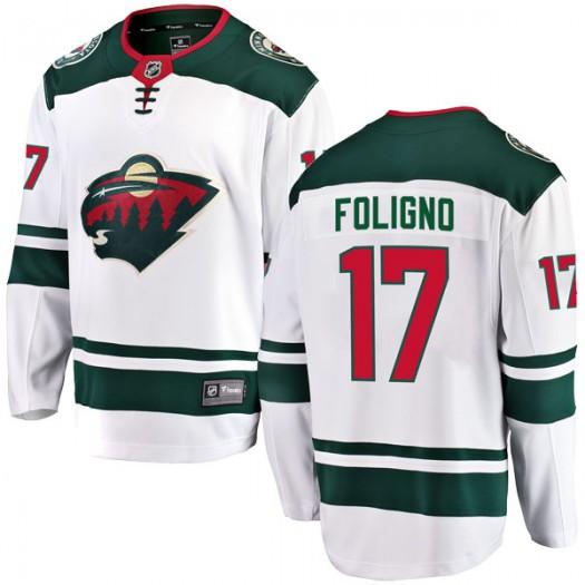 Marcus Foligno Minnesota Wild Men's Fanatics Branded White Breakaway Away Jersey