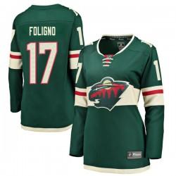 Marcus Foligno Minnesota Wild Women's Fanatics Branded Green Breakaway Home Jersey