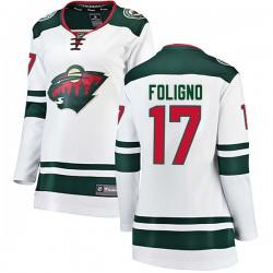 Marcus Foligno Minnesota Wild Women's Fanatics Branded White Breakaway Away Jersey