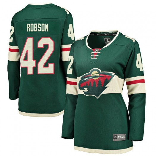 Mat Robson Minnesota Wild Women's Fanatics Branded Green ized Breakaway Home Jersey