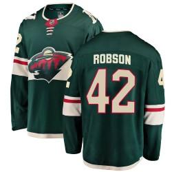 Mat Robson Minnesota Wild Youth Fanatics Branded Green ized Breakaway Home Jersey