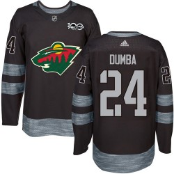Matt Dumba Minnesota Wild Men's Adidas Authentic Black 1917-2017 100th Anniversary Jersey