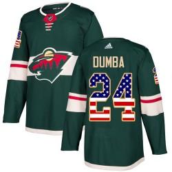 Matt Dumba Minnesota Wild Men's Adidas Authentic Green USA Flag Fashion Jersey