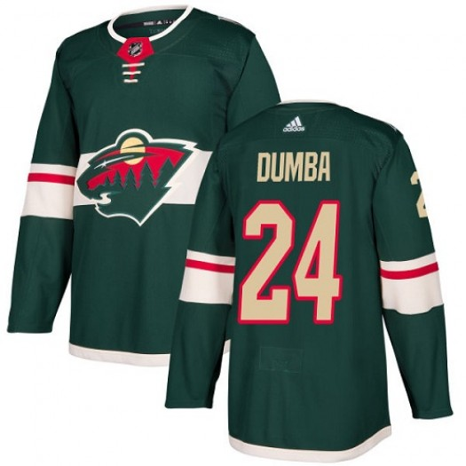 Matt Dumba Minnesota Wild Youth Adidas Authentic Green Home Jersey