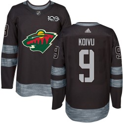 Mikko Koivu Minnesota Wild Men's Adidas Authentic Black 1917-2017 100th Anniversary Jersey