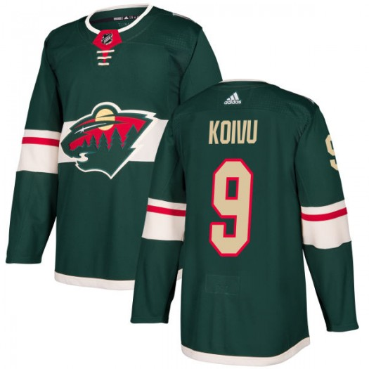 Mikko Koivu Minnesota Wild Men's Adidas Authentic Green Jersey