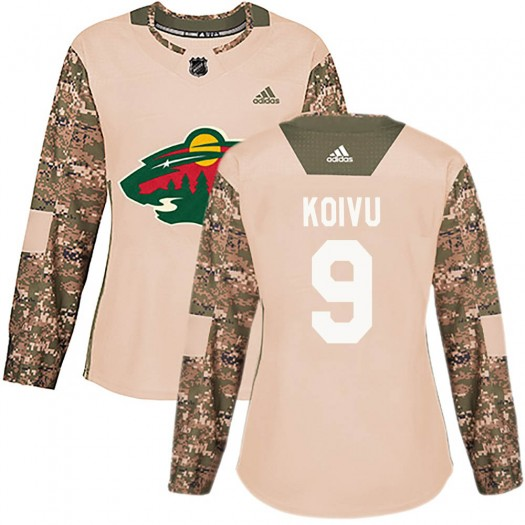Mikko Koivu Minnesota Wild Women's Adidas Authentic Camo Veterans Day Practice Jersey