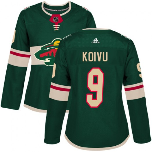 Mikko Koivu Minnesota Wild Women's Adidas Authentic Green Home Jersey
