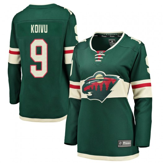 Mikko Koivu Minnesota Wild Women's Fanatics Branded Green Breakaway Home Jersey