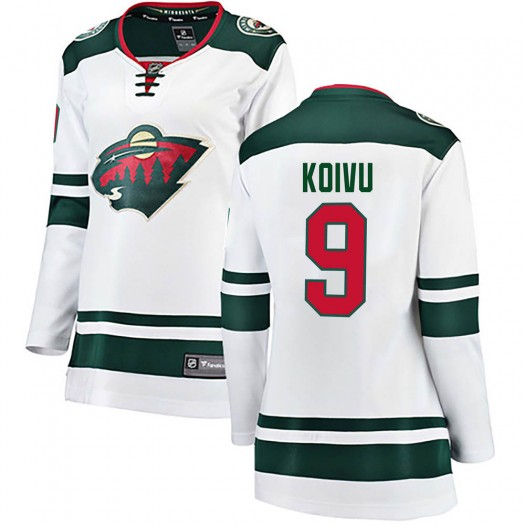 Mikko Koivu Minnesota Wild Women's Fanatics Branded White Breakaway Away Jersey
