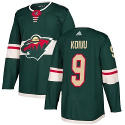 Mikko Koivu Minnesota Wild Youth Adidas Authentic Green Home Jersey