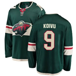 Mikko Koivu Minnesota Wild Youth Fanatics Branded Green Breakaway Home Jersey