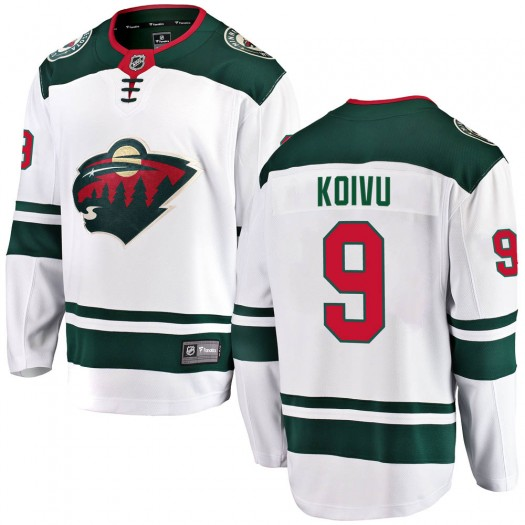 Mikko Koivu Minnesota Wild Youth Fanatics Branded White Breakaway Away Jersey