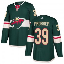 Nate Prosser Minnesota Wild Youth Adidas Authentic Green Home Jersey