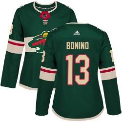 Nick Bonino Minnesota Wild Women's Adidas Authentic Green Home Jersey