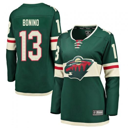 Nick Bonino Minnesota Wild Women's Fanatics Branded Green Breakaway Home Jersey