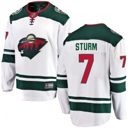 Nico Sturm Minnesota Wild Men's Fanatics Branded White Breakaway Away Jersey