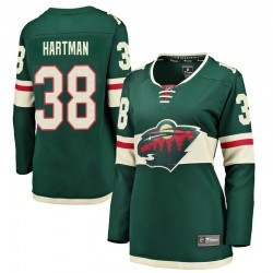 Ryan Hartman Minnesota Wild Women's Fanatics Branded Green Breakaway Home Jersey