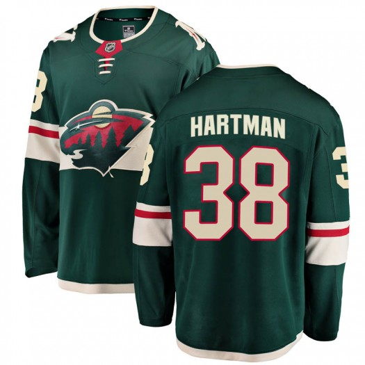 Ryan Hartman Minnesota Wild Youth Fanatics Branded Green Breakaway Home Jersey