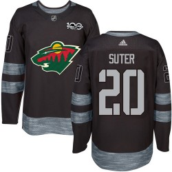 Ryan Suter Minnesota Wild Men's Adidas Authentic Black 1917-2017 100th Anniversary Jersey