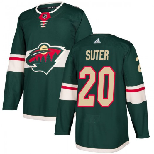 Ryan Suter Minnesota Wild Men's Adidas Authentic Green Jersey