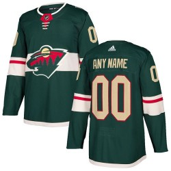 Youth Adidas Minnesota Wild Customized Authentic Green Home Jersey