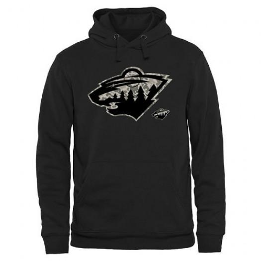 Minnesota Wild Men's Black Rink Warrior Pullover Hoodie