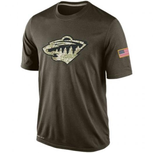 Minnesota Wild Men's Nike Olive Salute To Service KO Performance Dri-FIT T-Shirt
