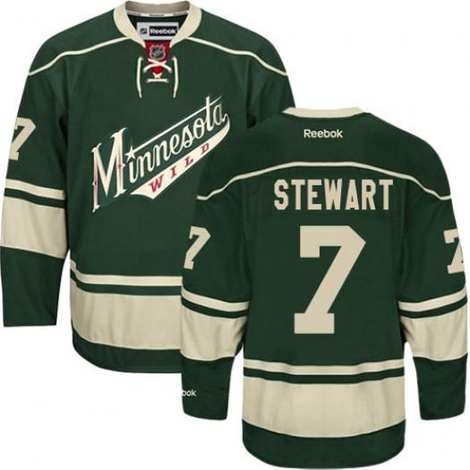 Chris Stewart Minnesota Wild Men's Reebok Authentic Green Third Jersey