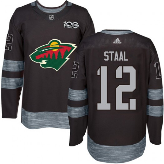 Eric Staal Minnesota Wild Men's Adidas Authentic Black 1917-2017 100th Anniversary Jersey
