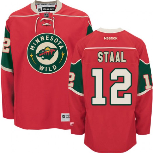 Eric Staal Minnesota Wild Men's Reebok Authentic Red Home Jersey