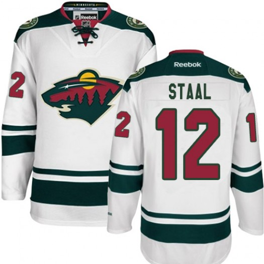 Eric Staal Minnesota Wild Men's Reebok Authentic White Away Jersey