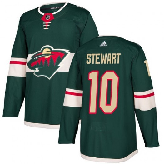 Chris Stewart Minnesota Wild Youth Adidas Premier Green Home Jersey